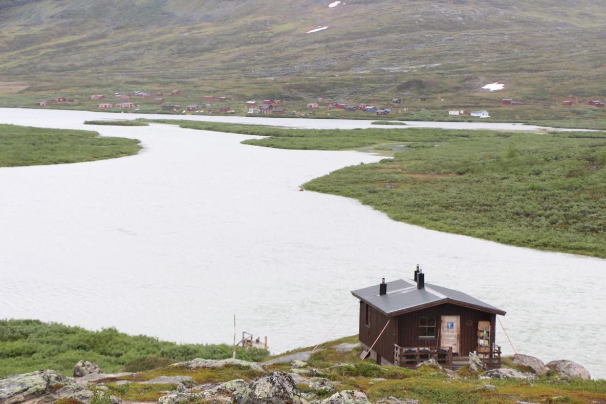 Übersicht der STF-Hütten auf dem Kungsleden